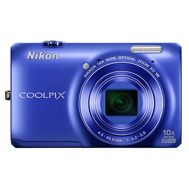 Nikon Coolpix S6300 16MP Digital Camera - Blue
