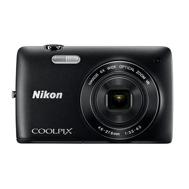 Nikon Coolpix S4300 16MP Digital Camera - Black