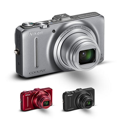 Nikon Coolpix S9300 16MP Digital Camera - Various Colors