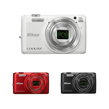 Nikon Coolpix S6800 16MP CMOS Digital Camera with 12x Optical Zoom - Various Colors