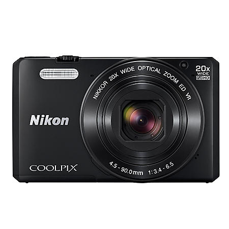 """Nikon Coolpix S7000 16MP CMOS Digital Camera, 3"""" LCD Display, 20x Optical Zoom with built in Wi-Fi"""