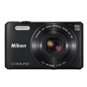 "Nikon Coolpix S7000 16MP CMOS Digital Camera, 3"" LCD Display, 20x Optical Zoom with built in Wi-Fi"