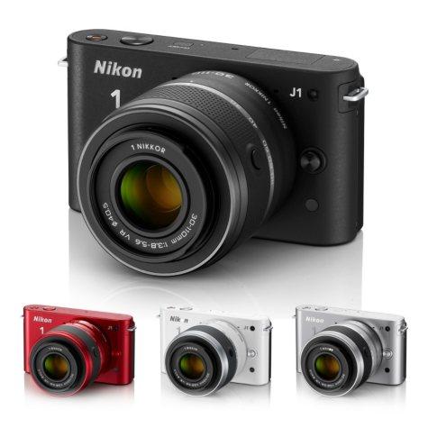 Nikon J1 10.1MP Mirrorless Digital Camera with 10-30mm Lens - Various Colors
