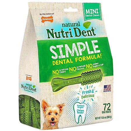 Nutri Dent Mini Edible Dental Chews 360 Degree Cleaning (72 ct.)