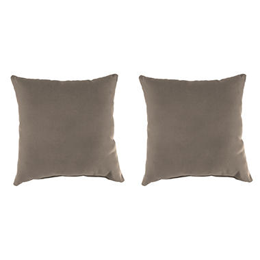 Sunbrella Throw Pillows, Set of 2 (Assorted Colors)