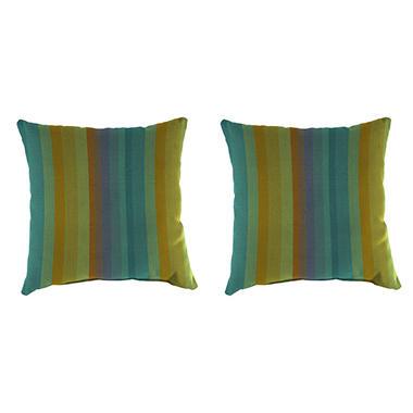 Beau Sunbrella Throw Pillows, Set Of 2 (Assorted Styles)