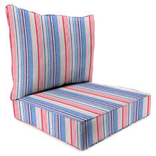 Deep Seating Chair Cushion with Box Seat, Welt & Ties, Multiple Patterns