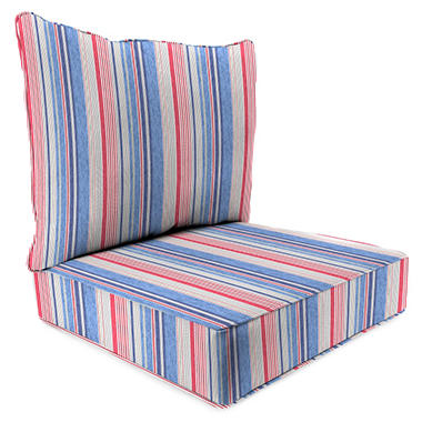 2-Piece Deep Seating Chair Cushion, Various Colors