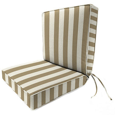 Sunbrella Deep Seating Chair Cushion, Various Colors