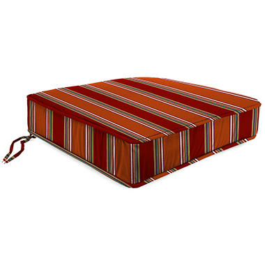 Outdoor Box Seat Cushion, Various Colors