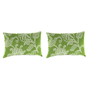 Jordan Manufacturing Set of 2 Indoor/Outdoor Toss Pillows - Assorted Fabrics and Colors