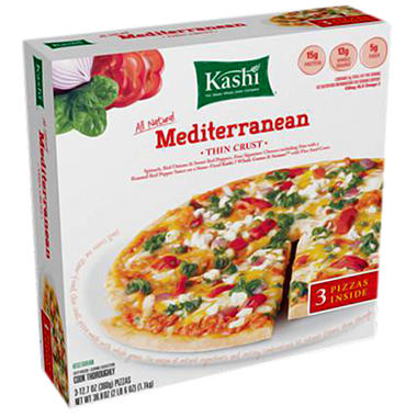 Kashi Mediterranean Thin Crust Pizzas - 12.7 oz. - 3 ct.