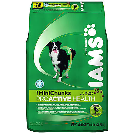 IAMS MINI CHUNKS DOG FOOD 46#