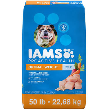 Iams Adult ProActive Health Weight Control Chicken Dry Dog Food (50 lbs.)
