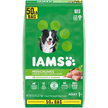 Iams ProActive Health Dog Food, Adult MiniChunks (50 lbs.)