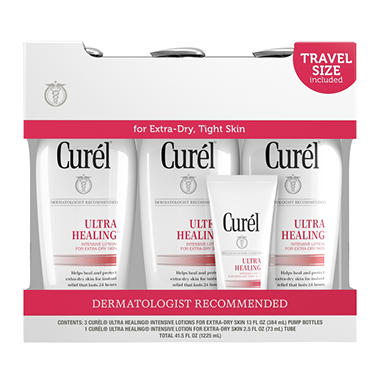 Curel Ultra Healing Lotion (13 fl. oz., 3 pk. with 2.5 fl. oz. Travel Size)