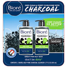 Bioré Deep Pore Charcoal Cleanser (6.77 fl. oz., 2 pk.)