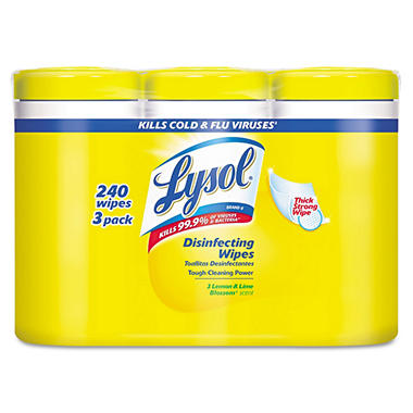 Lysol Disinfecting Wipes - Lemon & Lime Blossom Scent - 3 pk. - 80 ct. each