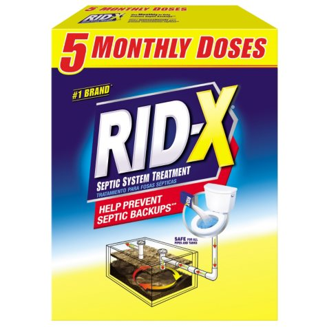 RID-X Septic Treatment, 5 Month Supply Of Powder, (49 oz.)