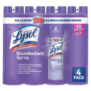 lysol disinfectant spray 4pk early morning breeze sam s club