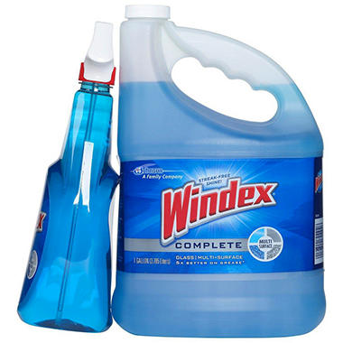 Windex Complete Glass & Multi Surface Cleaner Trigger Spray + Refill