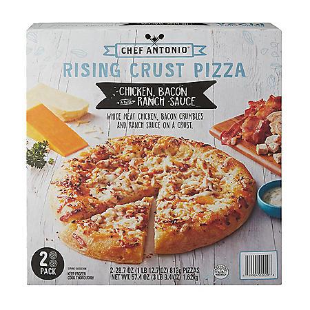 Chef Antonio Rising Crust Chicken Bacon Ranch Pizza, Frozen (2 pk.)