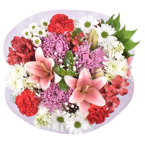 Valentine's Day Premium Majestic Mixed Flower Bouquet