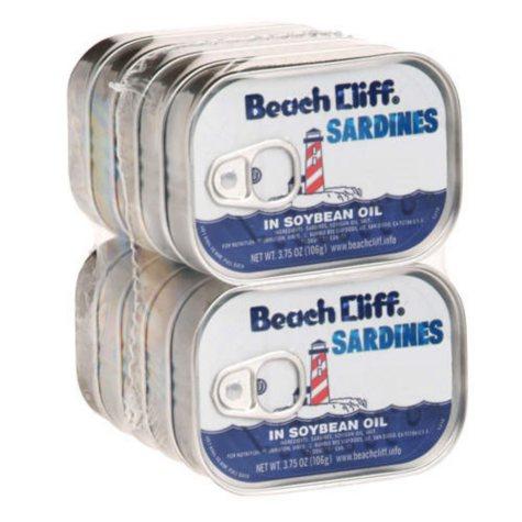 Beach Cliff Sardines In Soybean Oil (3.75 oz. can, 10 ct.)