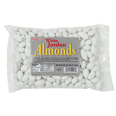 Confetti White Jordan Almonds - 2.5 lbs.