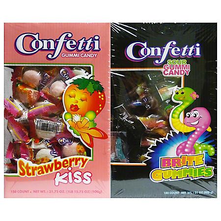 Confetti Gummi Candy - 180 ct.