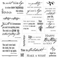 Cloud 9 Clear Stamps-Simple Thoughts Happy Birthda