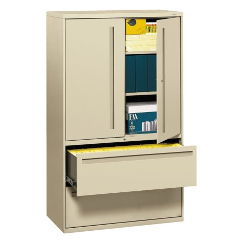 """HON 42"""" Wide 700 Series Lateral File with Storage Cabinet, Select Color"""