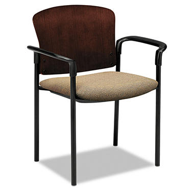 HON - Pagoda 4090 Series Guest Chair - Mahogany Wood Back/Oatmeal  Seat - 2 ct.