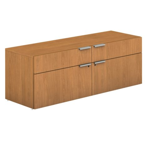HON Voi Low Credenza - 2 Box/2 File Drawers - Harvest