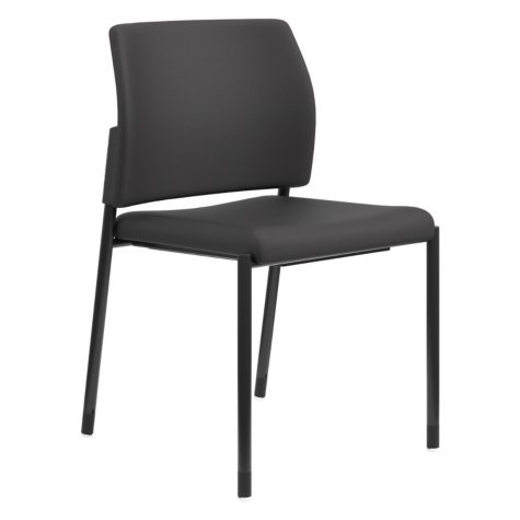 HON Accommodate Series Armless Fabric Guest Chair, Black
