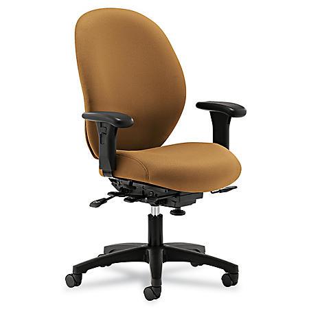 HON - Unanimous High-Performance Mid-Back Task Chair - Caramel