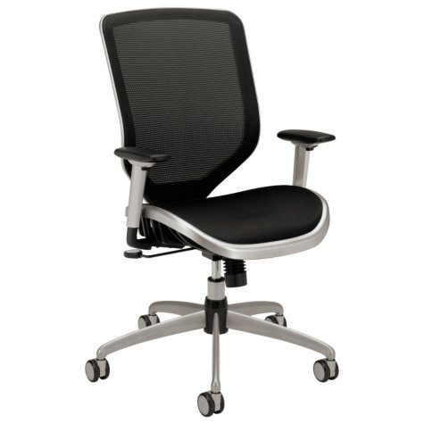 HON - Boda Series High-Back Work Chair, Mesh Seat and Back - Black