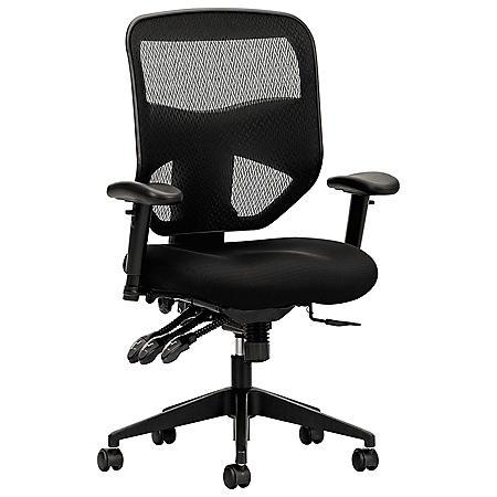 basyx VL532 Series High-Back Task Mesh Chair, Black