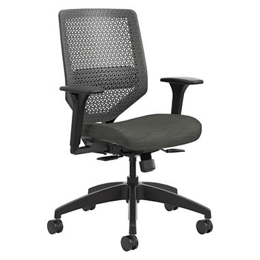 HON Solve Series ReActiv Back Task Chair, Ink/Charcoal