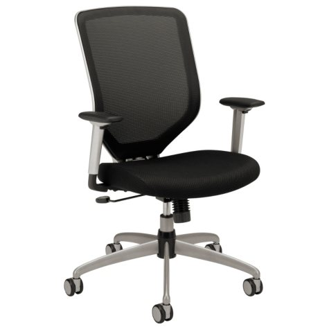 HON - Boda Series High-Back Work Chair, Padded Mesh Seat, Mesh Back - Black