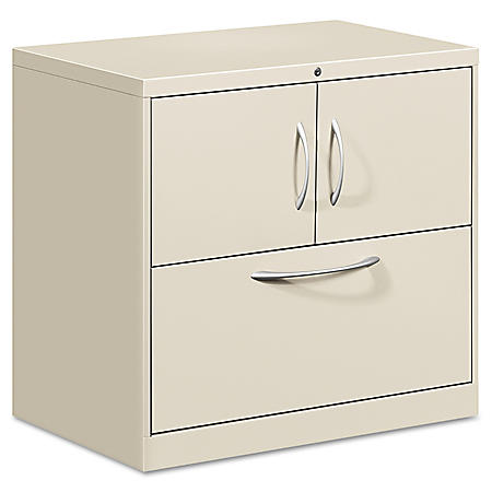 "HON - Flagship File Center w/Storage & Lateral File Cabinet, Letter/Legal, 30"" Width - Gray"