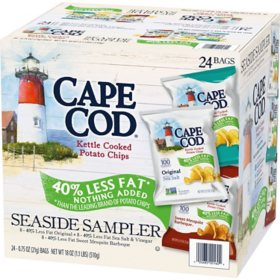 Cape Cod Reduced Fat Chips, Variety Pack (24 ct.)
