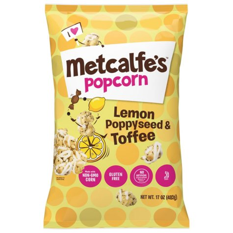 Metcalfe's Lemon Poppy Seed & Toffee Popcorn (17 oz.)