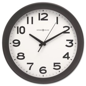 "Howard Miller Kenwick Wall Clock, 13-1/2"", Black"