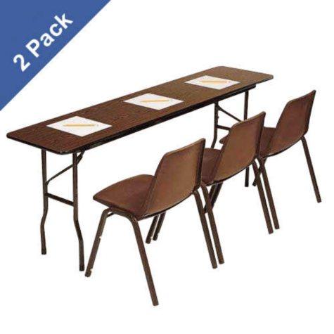 Correll 5' Folding Seminar Table, Walnut - 2 pack