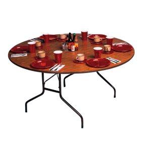 Correll 48 Quot Heavy Duty Folding Table Walnut 2 Pack