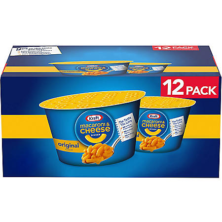 Kraft Easy Mac Microwavable Macaroni & Cheese (2.05 oz. Cups, 12 ct.)