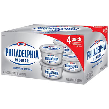 Kraft Philadelphia Regular Cream Cheese Spread - 8 oz. - 4 pk.