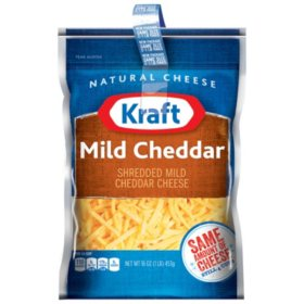 Kraft Mild Cheddar Shredded Cheese (16 oz., 2 pk.)