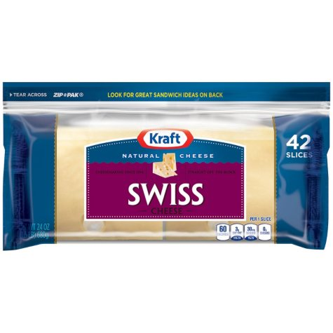 Kraft Natural Swiss Cheese Slices - 24 oz.
